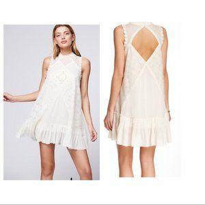 NWT Free People Angel Ivory Lace Tunic Dress XS